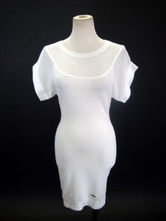 Kourtney Kardashian Lacoste + Malandrino White Knit Sweater Dress XS