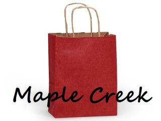 Red Kraft Paper Gift Bag Set of 10 Wholesale Price
