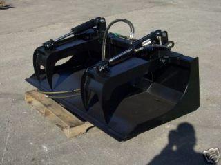 New 72 Grapple Bucket Skid Steer Kubota Bobcat