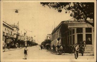 Sousse Tunisia Avenue Krantz Casino Municipal c1910 Postcard