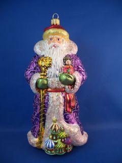 Russia Santa Kremlin Poland Glass Christmas Ornament 020025