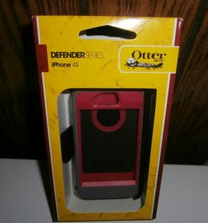 New iPhone 4S 4 Defender Case Belt Clip in Retail Grey Pink