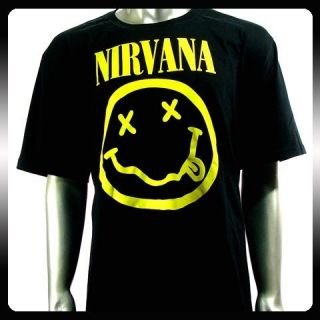 Nirvana Kurt Cobain Rock Punk Music T Shirt Sz L NI32 Men Biker