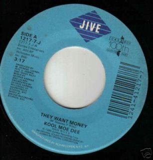 Kool Moe Dee 45 They Want Money Instrumental Version
