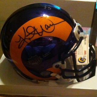 Kurt Warner Signed Mini Helmet 2000 Arizona Cardinals St Louis Rams