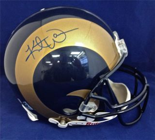 Kurt Warner St Louis Rams Signed Autographed Helmet Tristar COA 2000