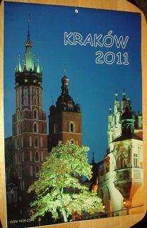 KRAKOW POLAND POLSKA 2011 WALL CALENDAR GREAT LARGE PHOTOS VG