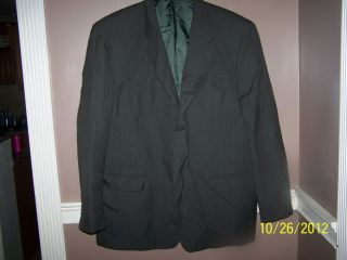Mens Jones New York Green and Black Checked 100 Wool Suit Jacket 3