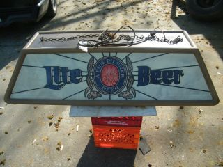 VINTAGE LIGHT BEER POOL TABLE LIGHT L@@k l@@k !!!!!