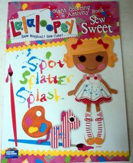 LA LA LOOPSY Jumbo Coloring Activity Book NEW Sew Sweet Spot Splatter