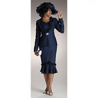 ASHRO Brand New Navy Brandi Church Skirt Suit Misses Size 10 FALL