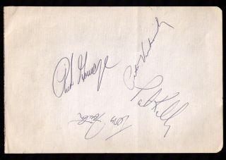 1975 Chicago White Sox Signed Sheet Rich Gossage Pete Vukovich Pat