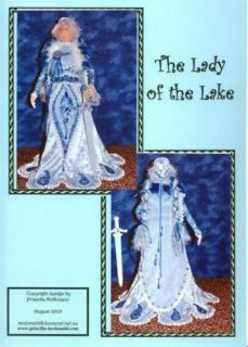 The Lady of The Lake  Cloth Doll Pattern CD Papers
