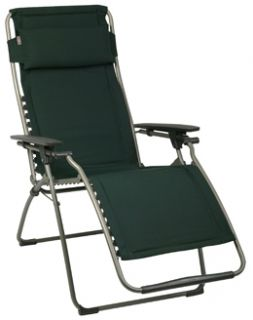Lafuma Clipper Zero Gravity Chair England Green Padded Recliner
