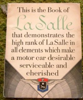 1929 La Salle Sales Brochure Book 29 Original