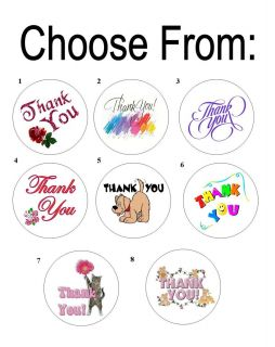 48 Thank You Envelope Seals Labels Stickers 1 2 Round
