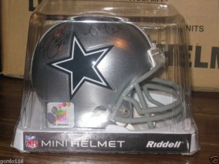 Dallas Cowboy NFL Autograph Mini Helmet Smith Edwards