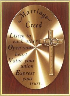 Plaque Heartfelt Inspiration Love 17 Marriage Creed