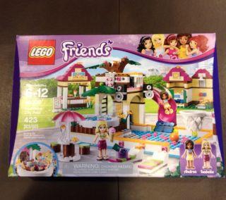 LEGO Friends Heartlake City Pool Set 41008 Andre Isabella 423 Pc NIB