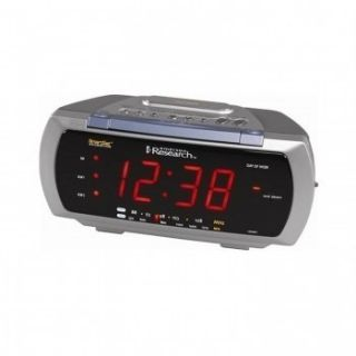 Emerson Dual Alarm Clock Radio 4 Way Lamp Control Auto Time Smarset