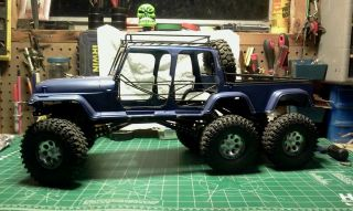Custom Crawler RC with Tamiya Jeep Body and Frame
