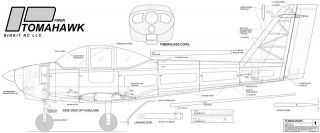 Piper Tomahawk Giant Scale RC PDF Kit Plans