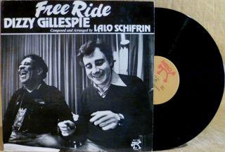 PROMO LP DIZZY GILLESPIE AND LALO SCHIFRIN FREE RIDE 1977 Pablo 2310