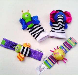 Baby Soft Lamaze Toys Wrist Watch Rattles Foot Socks Rattles Hands