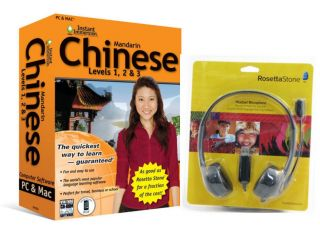 NEW Language Software Instant Immersion Chinese AND Rosetta Stone USB