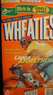Lance Armstrong Wheaties Cereal Box