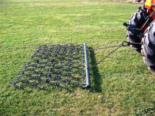 10 ft Chain Harrow Landscape Lawn Drag Arena ATV Rake