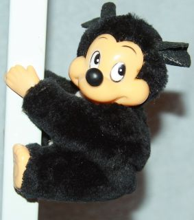 Very Cute Vintage Walt Disney Mickey Mouse Hand Clip on Hang Toy