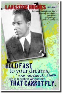 Langston Hughes African American Poet New Classroom Motivational
