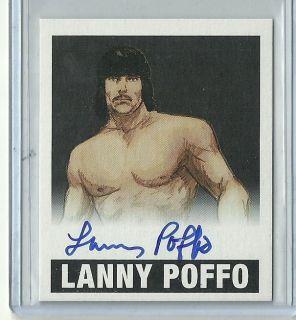 2012 Leaf Originals Wrestling Lanny Poffo Auto Autograph Black 1 of 1