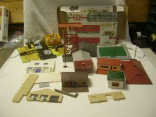HO Large Lot of Plastic Buildings Parts etc for Kitbashing or Repair