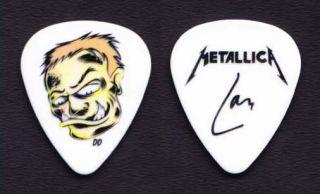 Metallica Lars Ulrich Caricature Signature Guitar Pick 2012 Tour