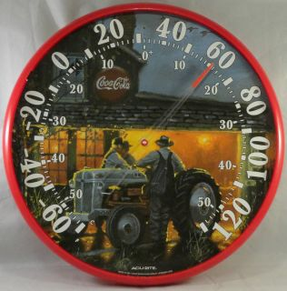 Large Outdoor Round Dial Thermometer Shop Talk Farmer Tractor American