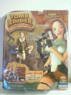 Lara Croft Tomb Raider Figure with Motorcycle SEALED