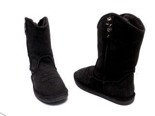 Bearpaw Womens Western Boot Dark Brown Suede Size 9