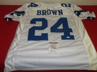 Larry Brown Autographed Dallas Cowboys Football Jersey JSA