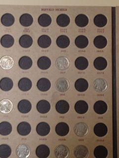 Nickel Coin Album Collection 108 Coins Incomplete