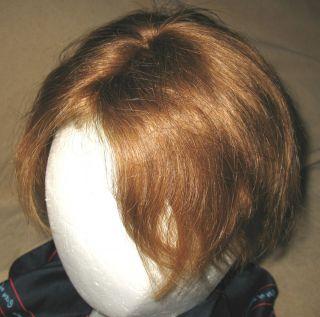 MEN HAIR PIECE~REAL HUMAN HAIR~VINTAGE~CLIP ON~MED. REDISH BROWN~FREE