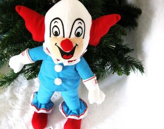 Famous Bozo Circus Clown Plush Toy Doll Larry Harmon