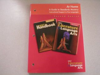 Holt Literature Language Arts 2nd Course at Home Book 0030665183