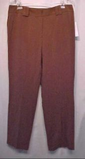 Larry Levine $50 Stretch Wood Brown Slacks Pants 14P