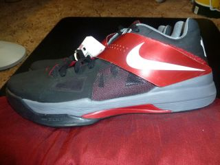 Nike Zoom KD IV Kevin Durant Basketball Shoes Sz Mens 14 0 Red Black
