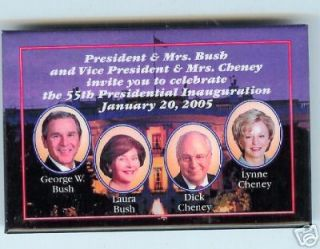 Laura Bush Lynne Cheney Invitation Inauguration 04 Pin