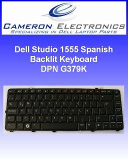 Dell Studio 1555 Spanish Back Lit Laptop Keyboard G379K