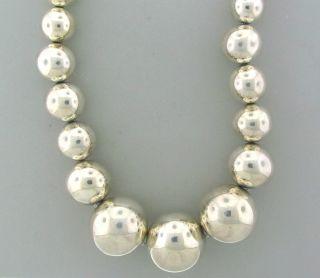 Robert Lee Morris RLM Sterling Graduated Large Bead Necklace