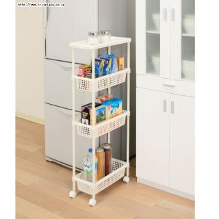 Laundry Cart Kitchen Cart for Narrow Space Kitchen Rack for Small